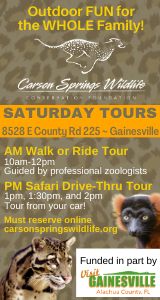Carson Springs Saturday Tours