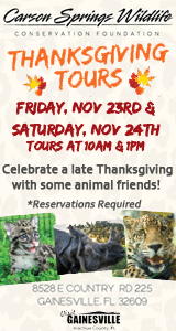 Carson Springs Wildlife Thanksgiving Tour