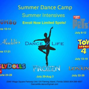 Dance 4 Life Kids Theme Dance Camps