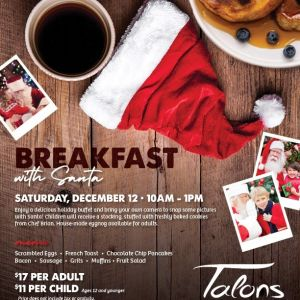 12/12 Breakfast with Santa at Talons